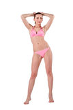 Beautiful young woman in pink swimwear Royalty Free Stock Images
