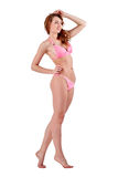Beautiful young woman in pink swimwear Royalty Free Stock Image