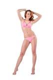 Beautiful young woman in pink swimwear Stock Image