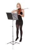 Beautiful young woman playing violin Royalty Free Stock Images