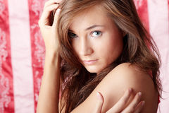 Beautiful young woman portrait Stock Photo