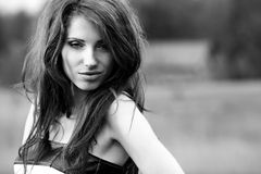 Beautiful young woman portrait, Royalty Free Stock Images