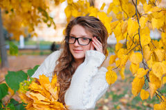Beautiful young woman portrait, close up outdoor Royalty Free Stock Photography