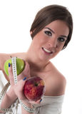 Beautiful young woman portrait, diet concept Royalty Free Stock Images