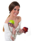 Beautiful young woman portrait, diet concept Royalty Free Stock Photo