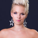 Beautiful young woman portrait, she is dissatisfie Royalty Free Stock Photos