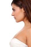 Beautiful young woman portrait profile Stock Photo