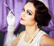 Retro flapper style woman Royalty Free Stock Photo