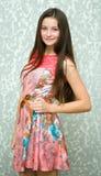 Beautiful young woman portrait stock photos