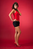 Beautiful young woman portrait in studio Royalty Free Stock Image