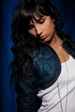 Beautiful young woman portrait in studio Stock Image