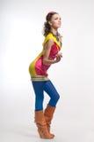 Beautiful young woman posing Royalty Free Stock Photography