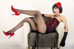 Beautiful Young Woman Posing Stock Images