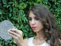 Beautiful young woman,posing in city of Sighisoara, Romania Stock Photos