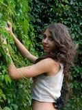Beautiful young woman,posing in city of Sighisoara, Romania. Stock Photo