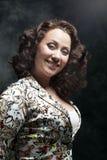 Beautiful young woman posing in dress Stock Photography
