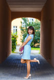 Beautiful Young Woman Posing In The Archway Stock Photography