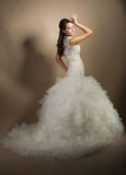 Beautiful young woman posing in a wedding dress Royalty Free Stock Photos