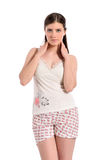 Beautiful young woman in pyjama Royalty Free Stock Image