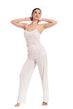 Beautiful young woman in pyjama Stock Photo