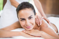 Beautiful young woman receiving spa treatment Royalty Free Stock Photo