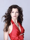 Beautiful young woman in red Royalty Free Stock Images