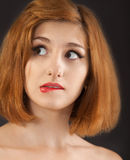 Beautiful young woman with red hair Royalty Free Stock Images