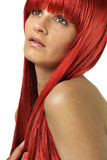 Beautiful young woman with the red hair Royalty Free Stock Photography