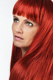 Beautiful young woman with the red hair Stock Photo