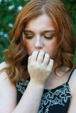 Beautiful young woman with red hair Royalty Free Stock Image