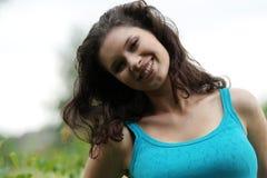 Beautiful young woman relaxing stock image