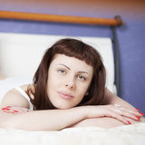 Beautiful young woman relaxing Royalty Free Stock Image