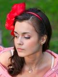 Beautiful young woman relaxing Stock Photography