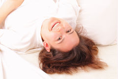 Beautiful young woman relaxing Stock Image
