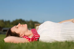 Beautiful young woman relaxing Royalty Free Stock Images