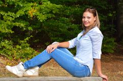 Beautiful young woman relaxing Royalty Free Stock Photo
