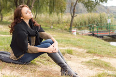 Beautiful young woman relaxing in nature Royalty Free Stock Photos