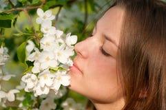 Beautiful young woman relaxing otdoor Stock Images