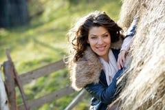 Beautiful young woman relaxing outdoor Stock Image