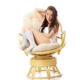 Beautiful young woman resting Royalty Free Stock Photos