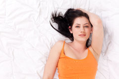 Beautiful young woman resting Royalty Free Stock Image