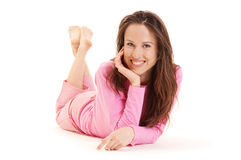 Beautiful young woman resting Stock Photo