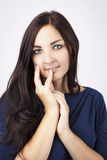 Beautiful young woman with romantic look Royalty Free Stock Photography