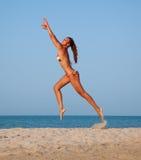 Beautiful young woman running Royalty Free Stock Photo