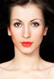 Beautiful young woman's face Royalty Free Stock Images