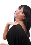 Beautiful young woman sending a kiss Stock Images