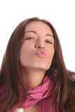 Beautiful young a woman sending kiss Stock Image