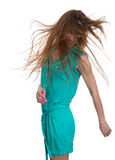 Beautiful young woman shaking head with long hair Royalty Free Stock Photo