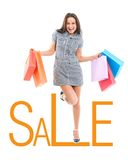 Beautiful young woman shopping Royalty Free Stock Photos