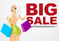Beautiful young woman with shopping bags Stock Image